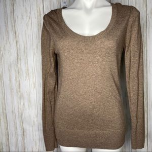 Old Navy light brown sweater with heart detail Med